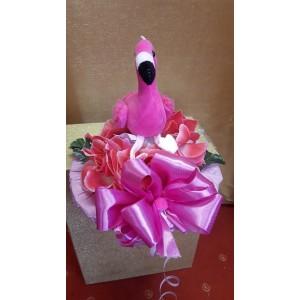 Virágcsokor flamingóval rózsaszín